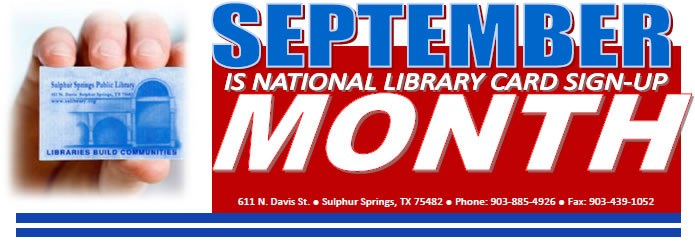Sept Lib Card Month 2013